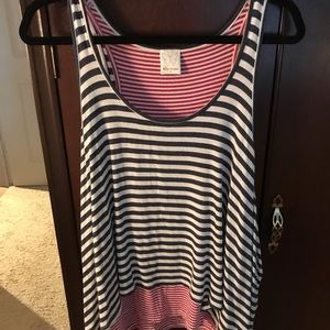 Elle Moss Nested Red and Blue Striped Tank